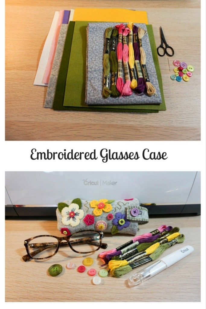 Embroidered Glasses Case