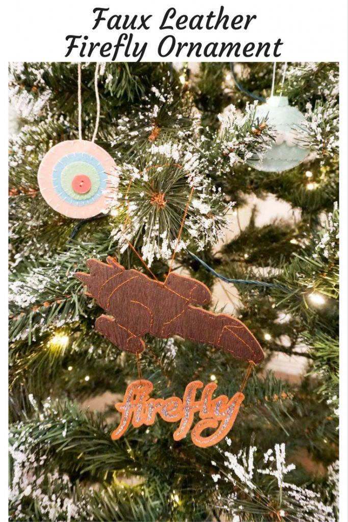 Faux Leather Firefly Ornament