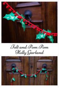 Felt and Pom Pom Holly Garland