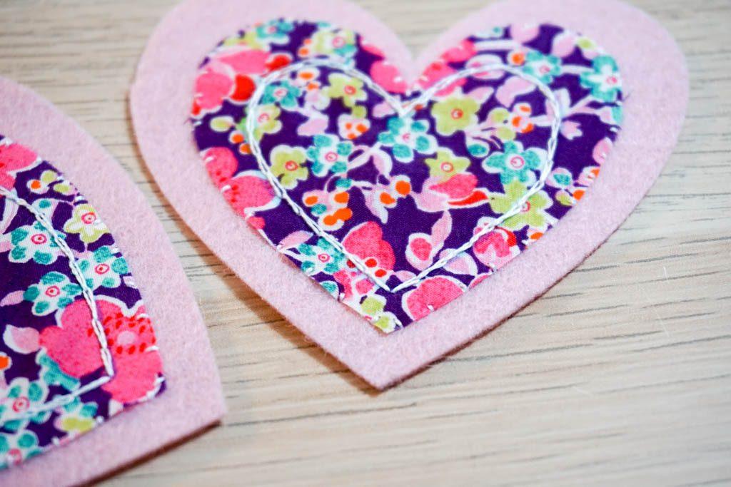 Felt Heart Page Corner Bookmark