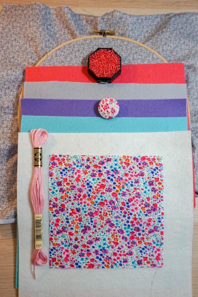 Felt and Fabric Circle Hoop