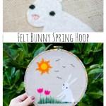 Felt Bunny Spring Hoop