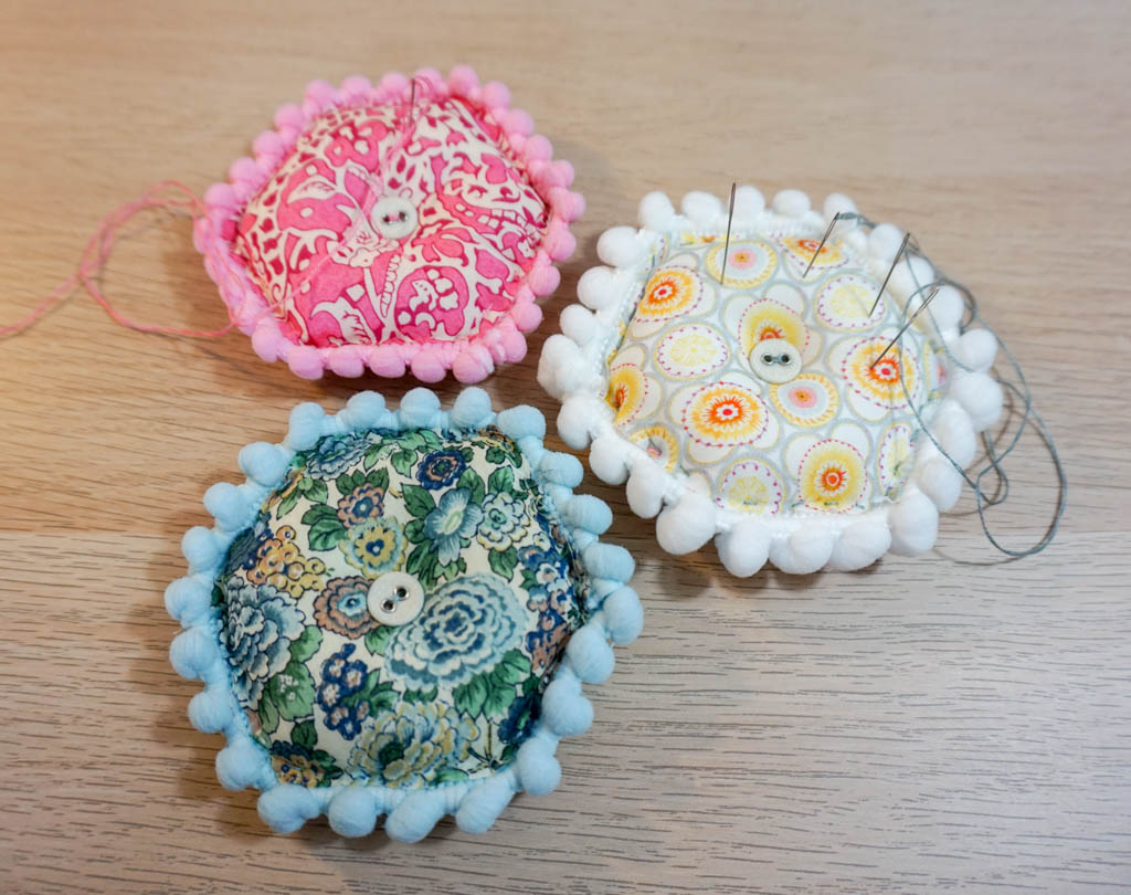 Puffy Hexagon Pincushions