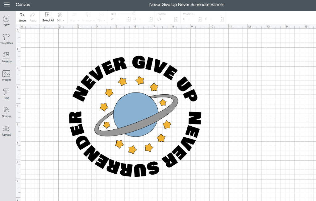 Never Give Up Never Surrender Galaxy Quest Banner