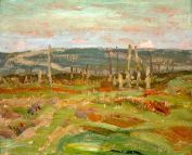 Vimy Ridge from Souchez Valley by Group of Seven artist -A.Y._Jackson