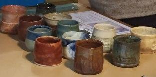 Special event ceramic wine tasting glasses