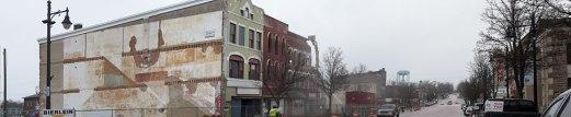 Demolition preparing for new hotel, April 2016