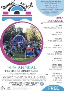 Swingin' at the Shell 2017 music series