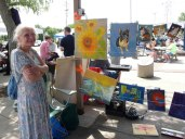 Artists show their work at the French Market.