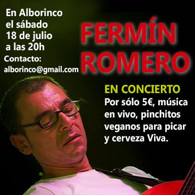 Imagen del cartel del próximo concierto de Fermín Romero