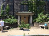 We trimmed back the landscaping around the Graham St. door