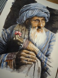 Afghan Man With A Rose.