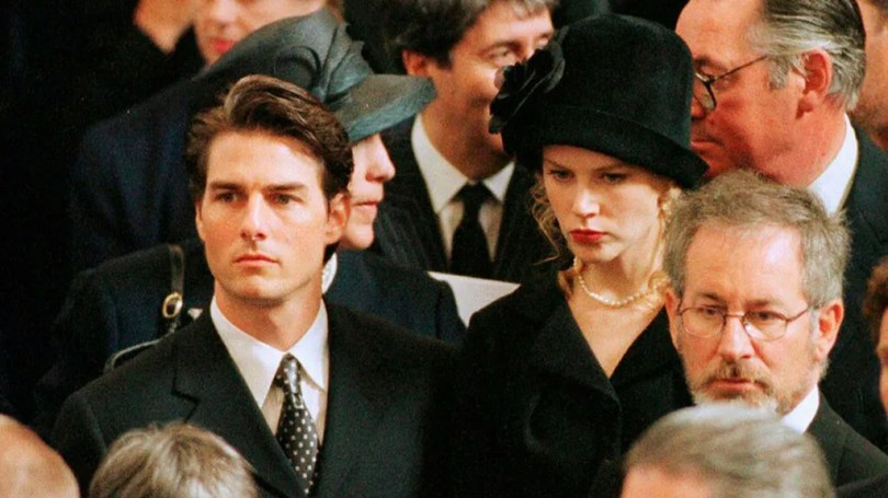 Nicole Kidman attended the funeral with Tom Cruise.