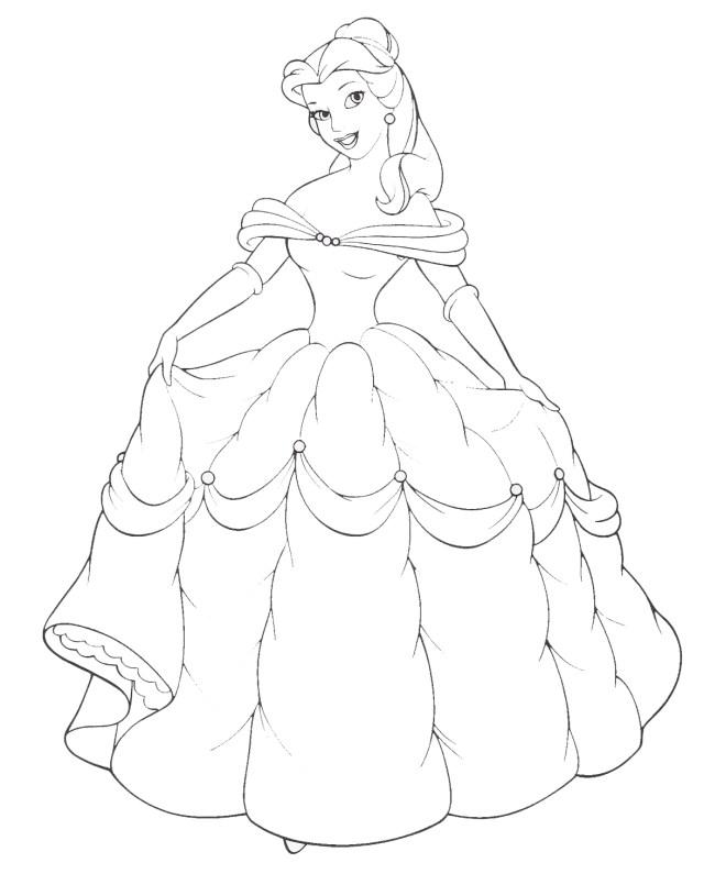 Dessin Princesse #28 (Personnages) – Coloriages à imprimer