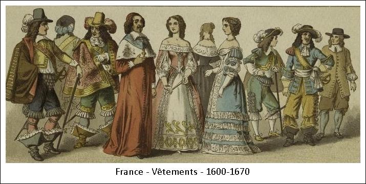 France – Vêtements – 1600-1670