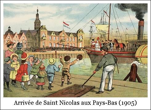 Arrivée de Saint Nicolas aux Pays-Bas (1905)