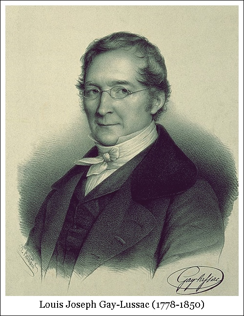 Louis Joseph Gay-Lussac (1778-1850)