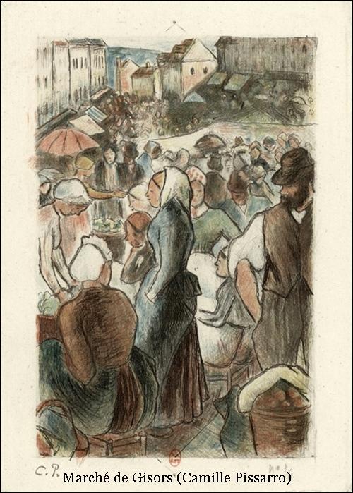 Marché de Gisors – Camille Pissarro