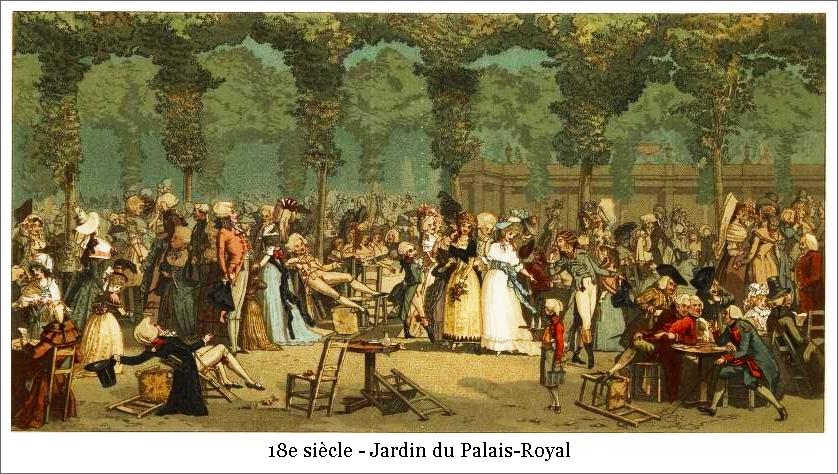 18e siècle – Jardin du Palais-Royal