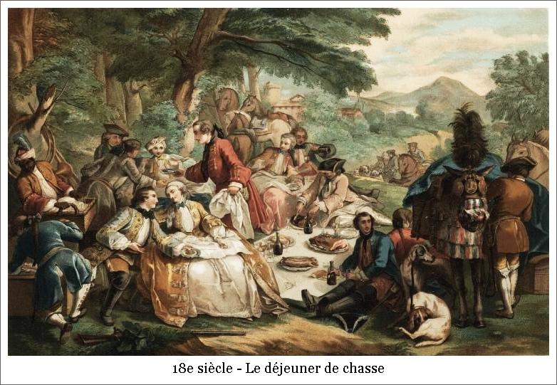18e siècle – Le déjeuner de chasse