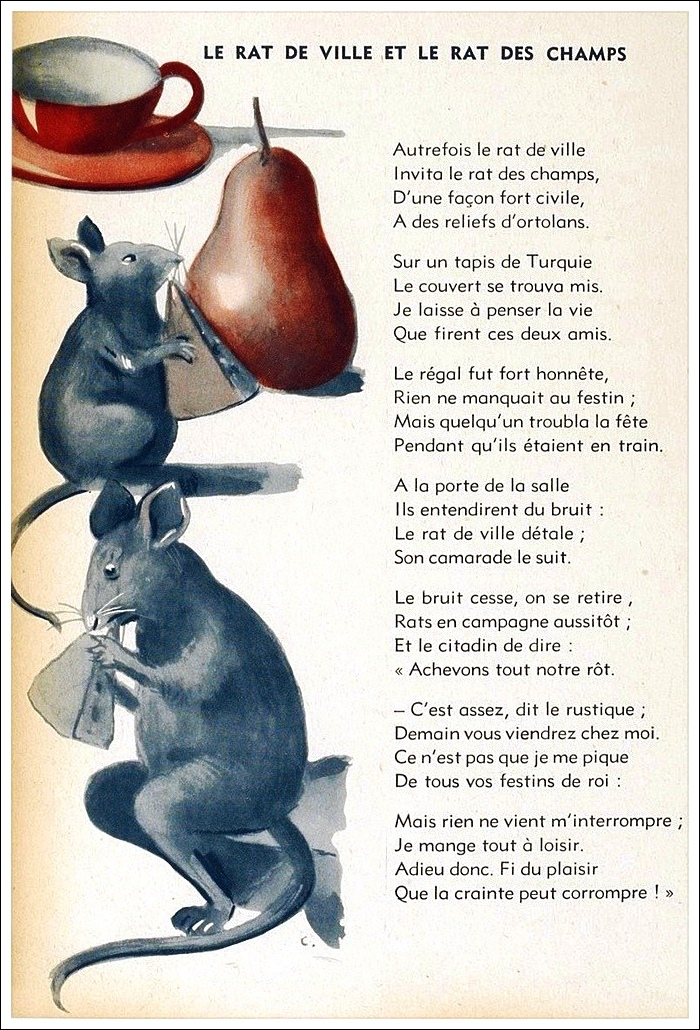 Le Rat Des Villes Et Le Rat Des Champs Morale : villes, champs, morale, Ville, Champs, Française