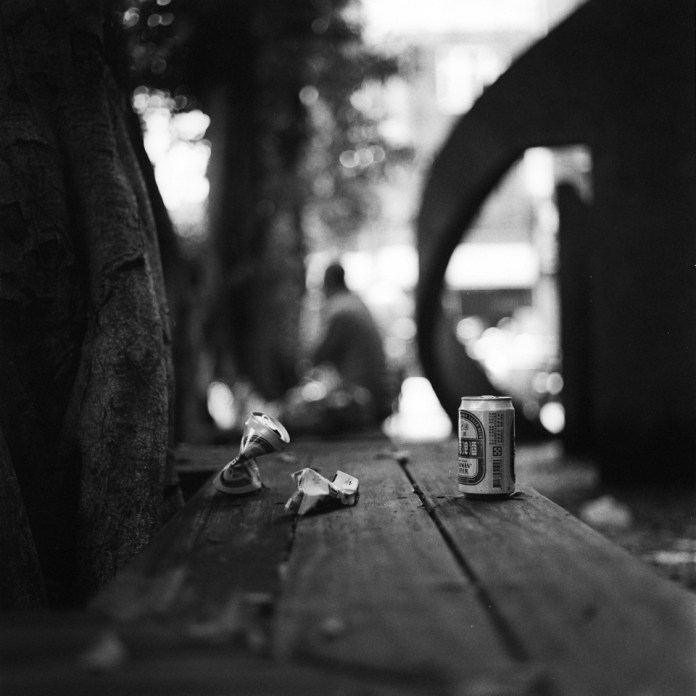 Pick-me-up - ILFORD DELTA PROFESSIONAL 400 shot at EI 1600. Black and white negative film in 120 format shot as 6x6. Push processed two stops.