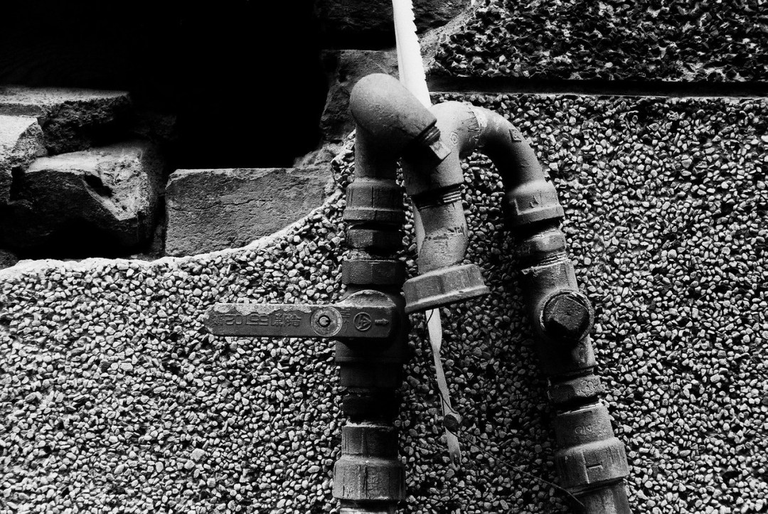 Pipes shot on kodak hawkeye traffic surveillance black and white film 2485 at ei 800