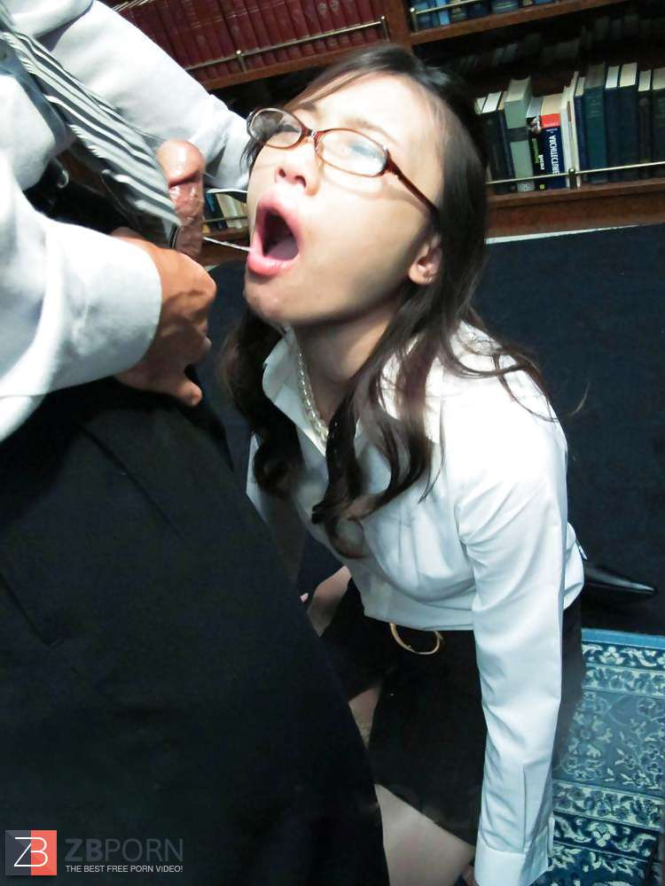 Japanese office lady blowjob and facial cumshot  ZB Porn