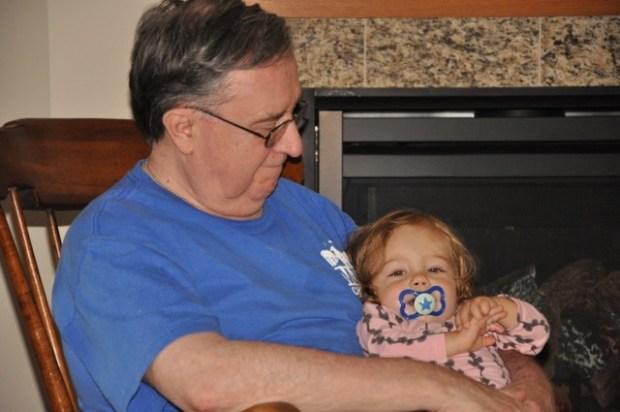 Grandpops + L.L. in the rocker
