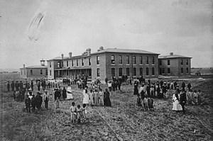 Albuquerque Indian School in 1885 (NRG-75-AISP-2)