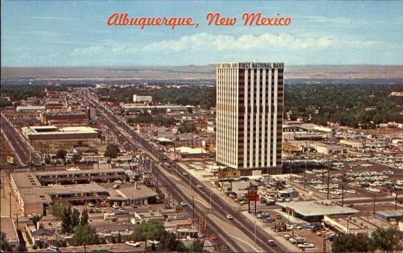 Postcard of R66 in Albuquerque