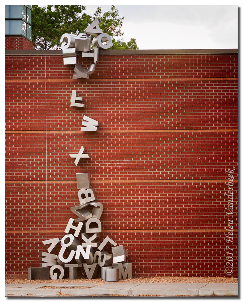 Waterfall of Letters