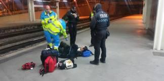 policia fuenlabrada tren