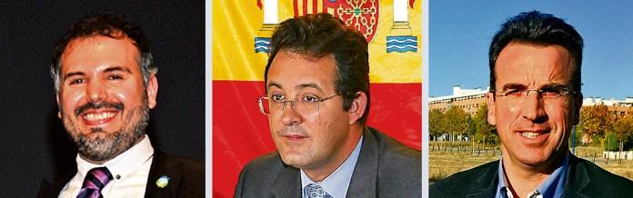Carlos Delgado, Jesús Gómez y Miguel Ángel Recuenco