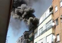 incendio en Getafe