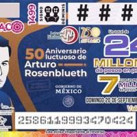 Destacan aportaciones a la ciencia de Arturo Rosenblueth en develación de billete de lotería conmemorativo