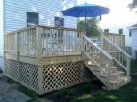 Deck in South Portland - side view