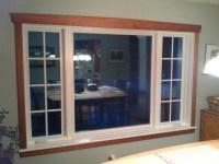 Vinyl clad casement window - interior with cherry trim