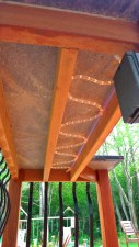 Cumaru Deck - LED Rope Lighting Under Counter