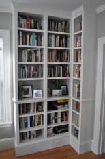Built-In Bookshelves - Adjustable shelving, fully loaded