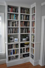Built-In Bookshelves - Adjustable shelving, fully loaded