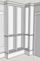 The corner unit was designed in SketchUp
