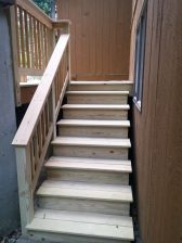 Stairs to the backyard