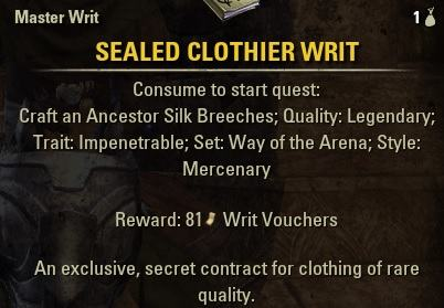 Crafting Writs Guide