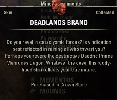 Deadlands Brand Skin