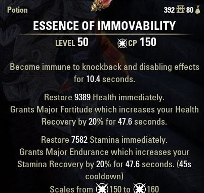 Immovable Potion