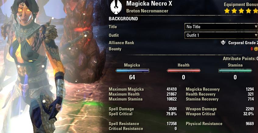 Magcro Curse stats fully buffed