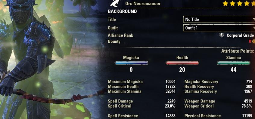 Blight Bow Necro buffed stats