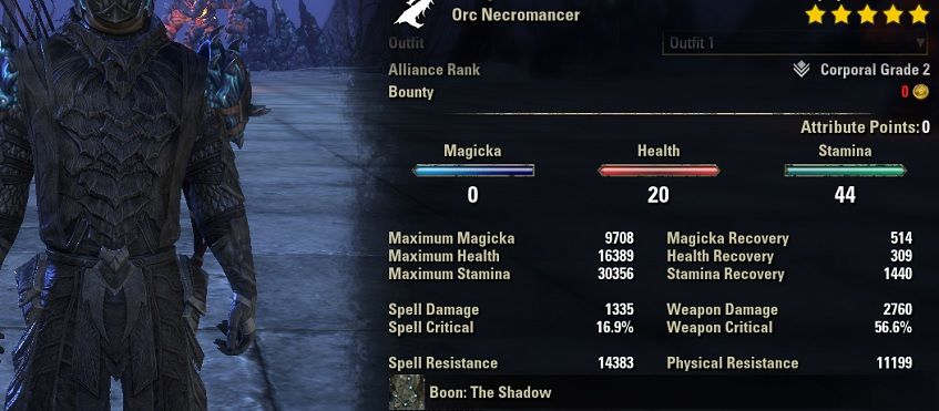 Blight Bow Necro unbuffed stats