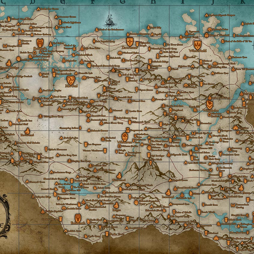 Skyrim map deatiled preview